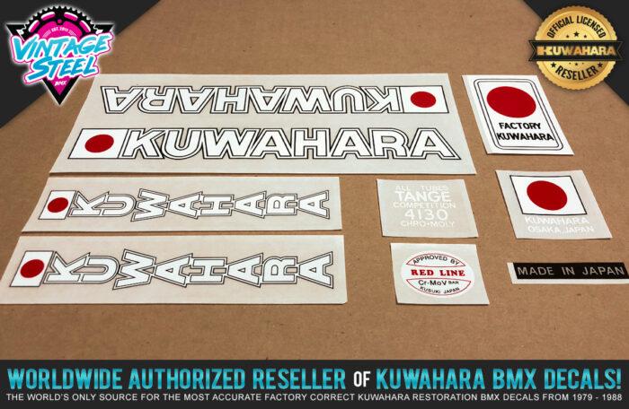 Factory Correct 1979-1980 Kuwahara KE BMX Decal Stickers