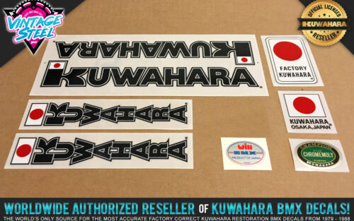 Factory Correct 1983 Kuwahara KYZ BMX Decal Stickers