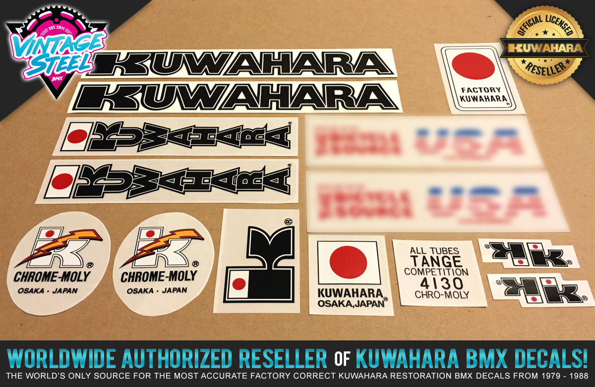 Factory Correct 1984-1985 Kuwahara Exhibitionist BMX Decal Stickers