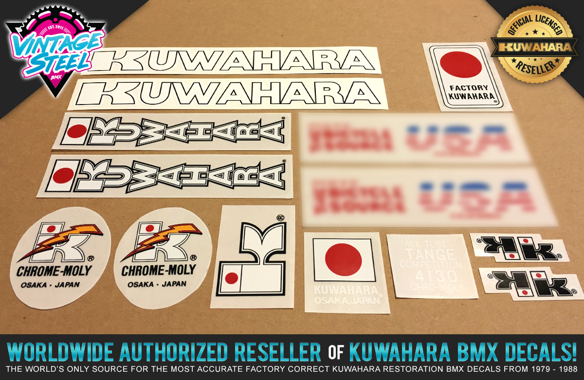 Factory Correct 1984 Kuwahara Exhibitionist BMX Decal Stickers