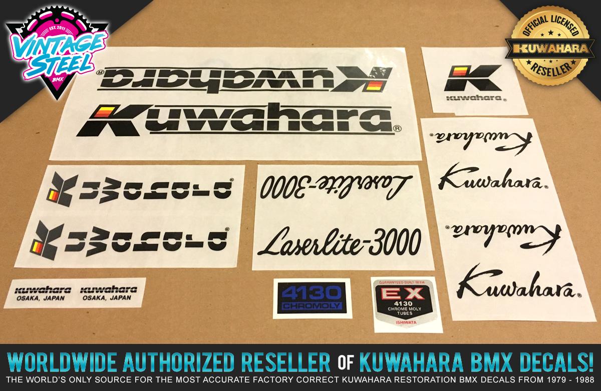 Factory Correct 1986-1987 Kuwahara Laserlite-3000 BMX Decal Stickers