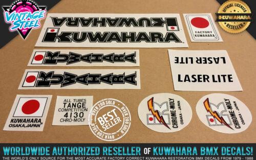 Factory Correct 1983-1984 Kuwahara Laserlite BMX Decal Stickers