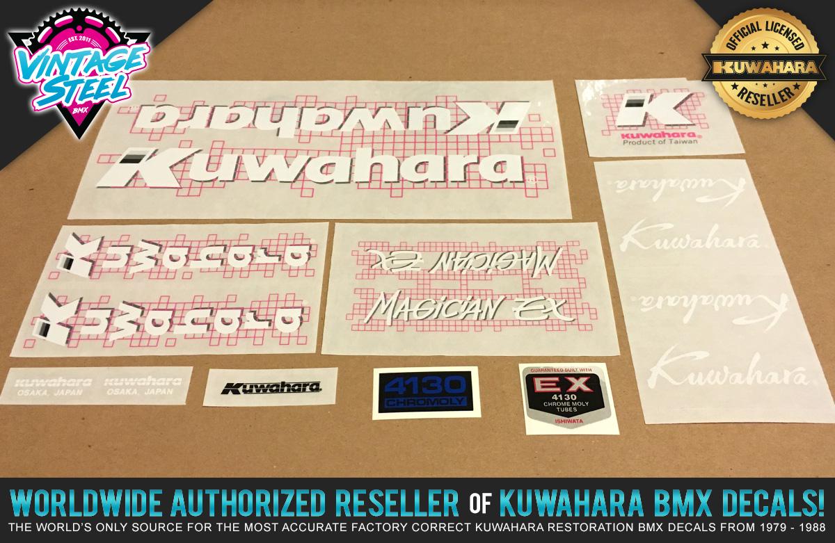 Factory Correct 1987 Kuwahara Magician EX BMX Decal Stickers