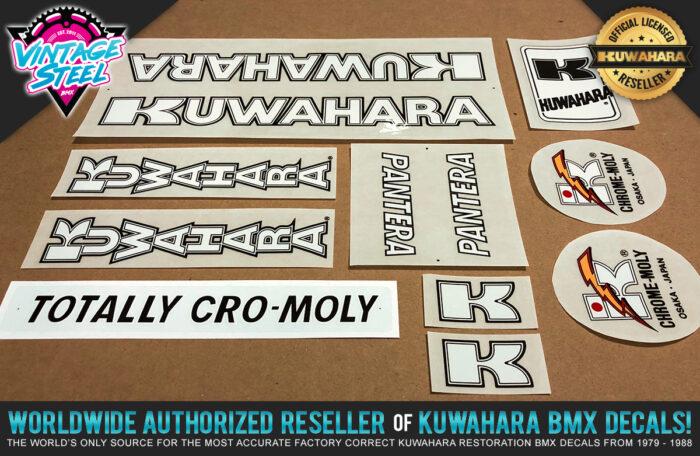 Factory Correct 1983-1984 Kuwahara Pantera BMX Decal Stickers