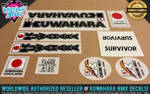 Factory Correct 1982 Kuwahara Survivor BMX Decal Stickers