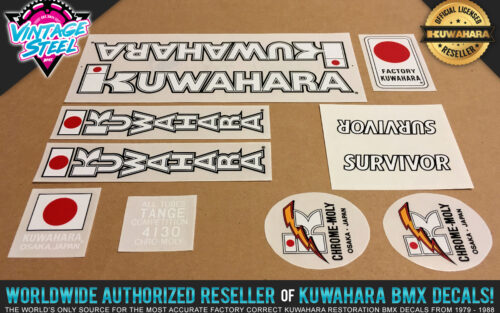 Factory Correct 1983-1984 Kuwahara Survivor BMX Decal Stickers