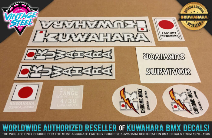Factory Correct 1983-1984 Kuwahara Survivor BMX Decal Stickers