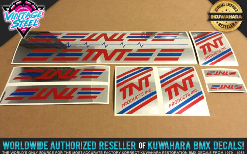 Factory Correct 1986-1990 TNT Products BMX Decal Stickers