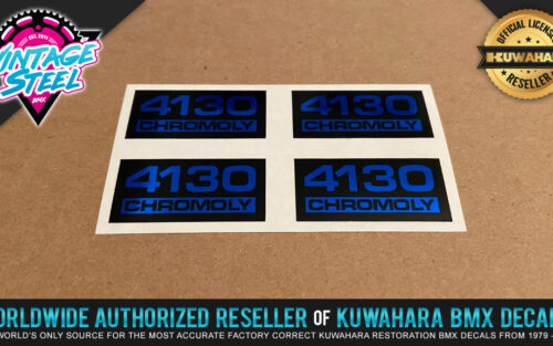 Factory Correct 4130 Chromoly BMX Decal Stickers