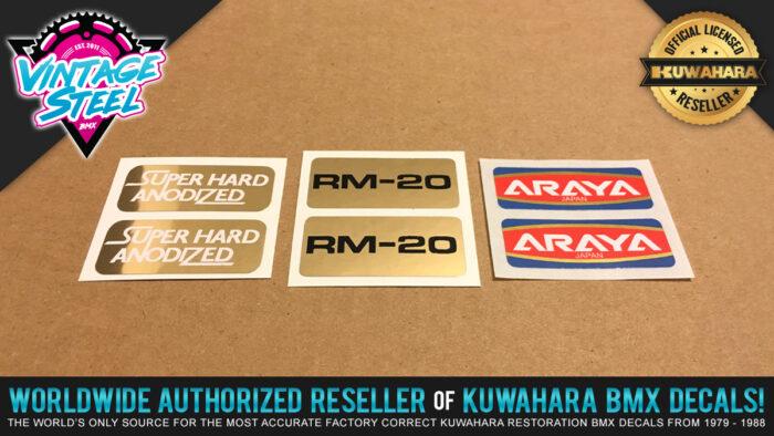 Factory Correct Araya RM-20 Rim & Wheel BMX Decal Stickers