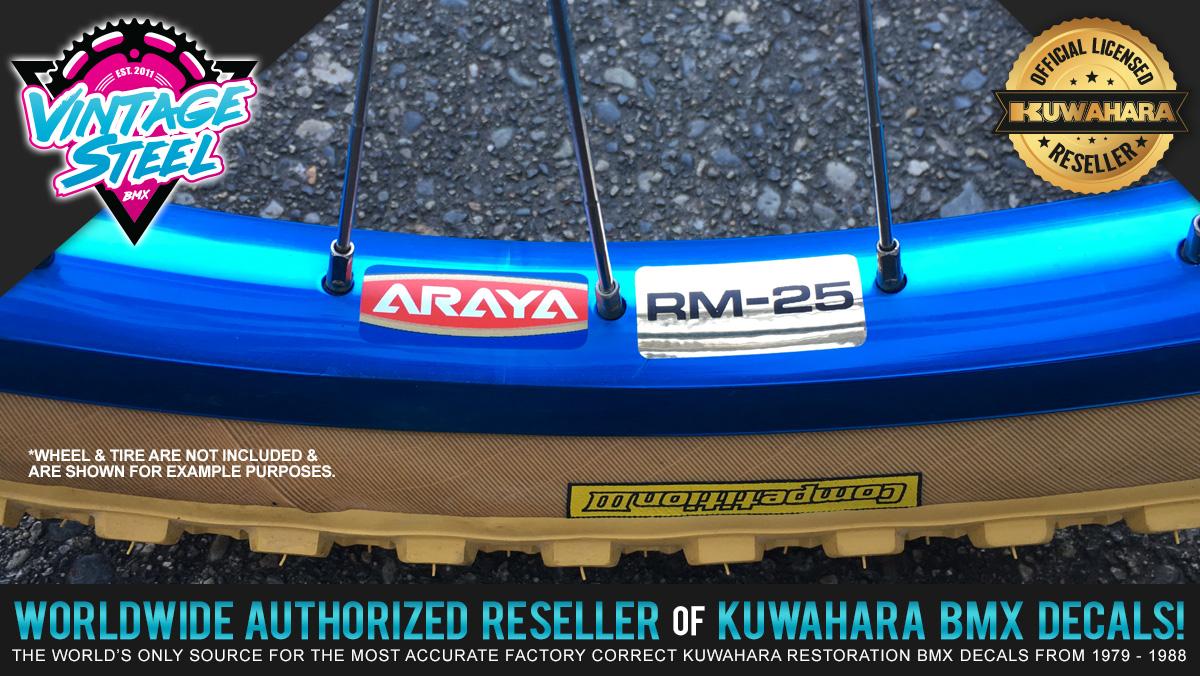 Factory Correct Araya RM-25 Rim & Wheel BMX Decal Stickers