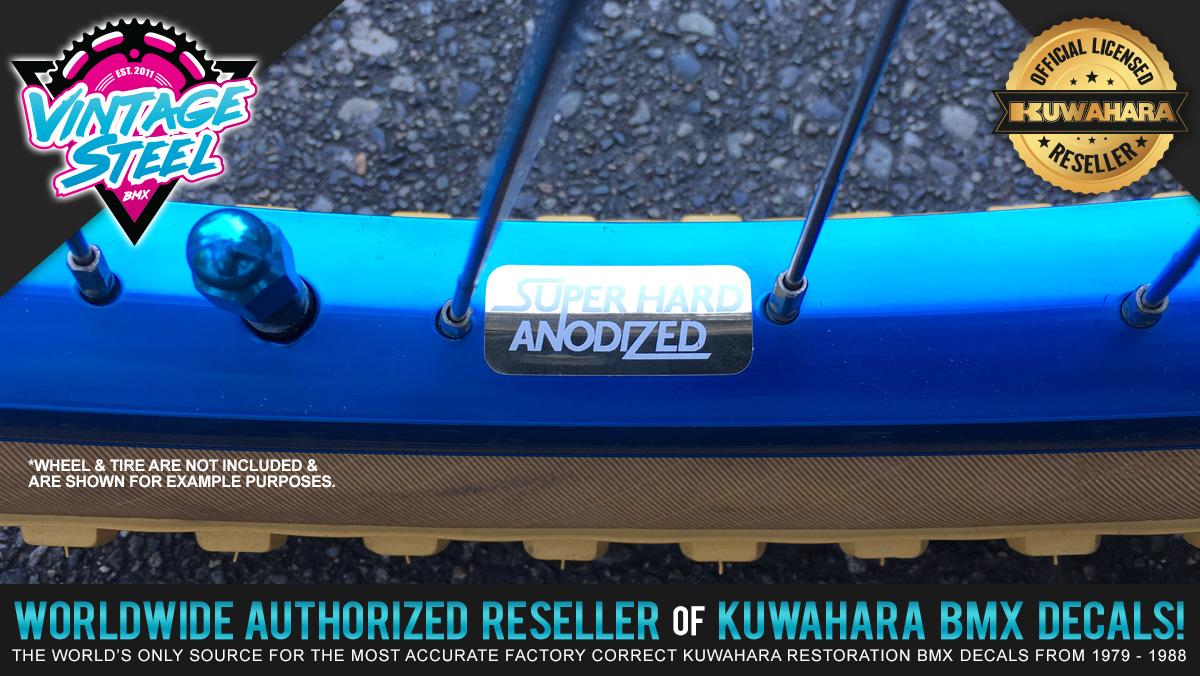 Factory Correct Araya Super Anodized Rim & Wheel BMX Decal Stickers