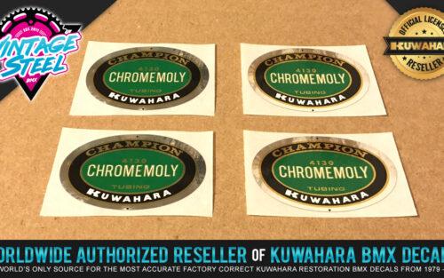 Factory Correct Kuwahara Champion 4130 Chromemoly BMX Decal Stickers