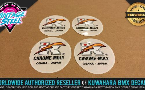 Factory Correct Kuwahara Chrome-Moly Handlebar & Seat Post BMX Decal Stickers