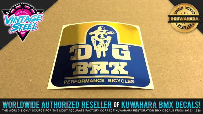 Factory Correct DG BMX Decal Stickers