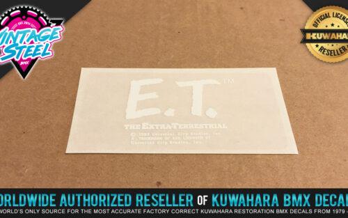 Factory Correct Kuwahara E.T. BMX Decal Stickers