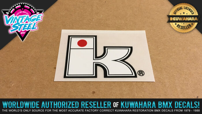 Factory Correct Kuwahara Exhibitionist Big K BMX Decal Stickers