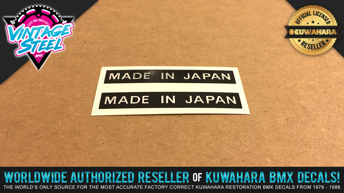 Factory Correct Kuwahara Made In Japan Decal Stickers