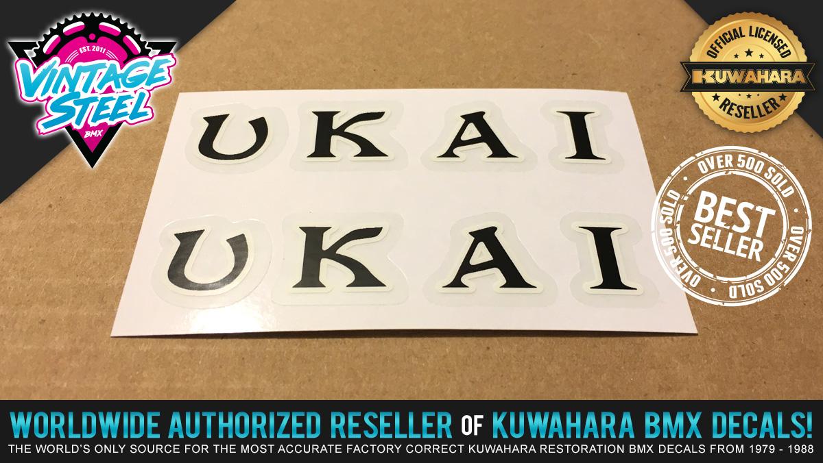 Factory Correct Ukai Rim Wheel BMX Decal Stickers