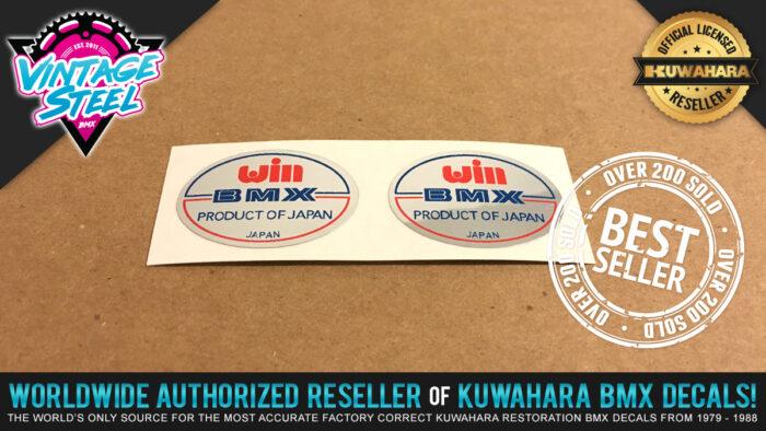 Factory Correct WIN Handlebar BMX Decal Stickers