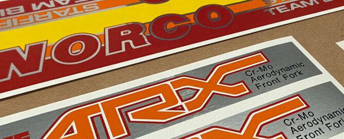 1983 Norco Starfire Factory Correct Restoration Decals