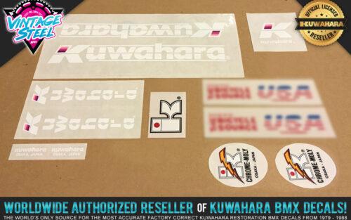Factory Correct 1985 Kuwahara Exhibitionist BMX Decal Stickers