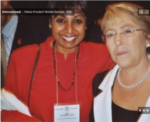 In Montreal with Michelle Bachelet