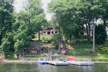 This lake front is listed on the National Register of Historic Places
