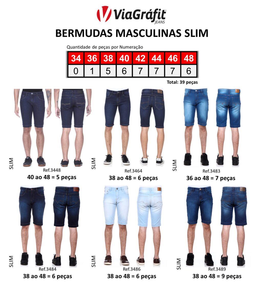 Bermuda Masculina Slim