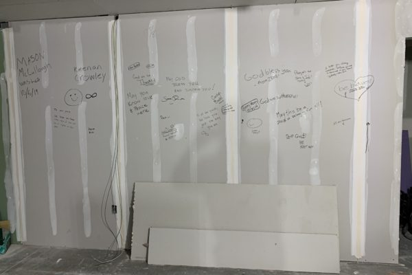 Some of our youth stopped by to leave their mark on the space.