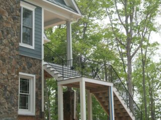 rod iron railings and balusters