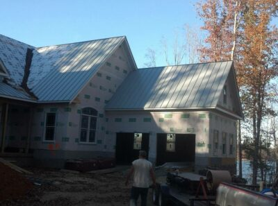 metal roof installation lake house
