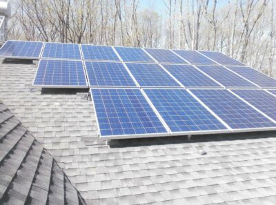 solar panels on roofing