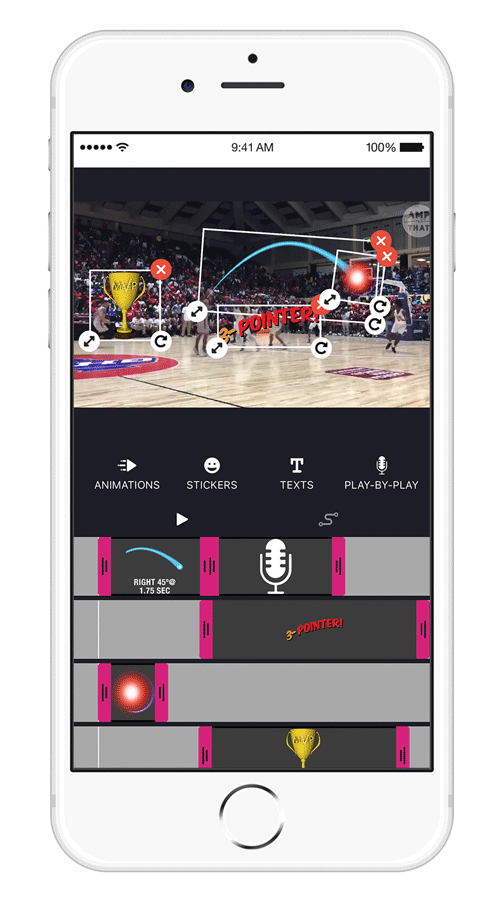 AmpThat app timeline screenshot