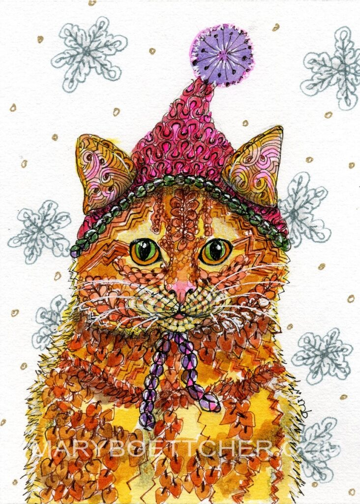 Cat in the Christmas Hat