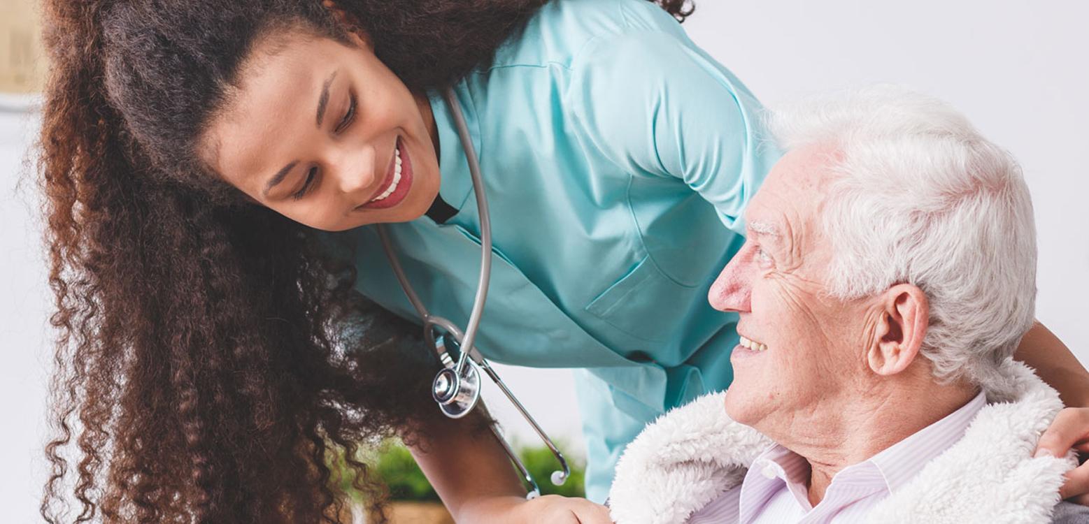 Nurse Staff Relief in Georgia helping older man