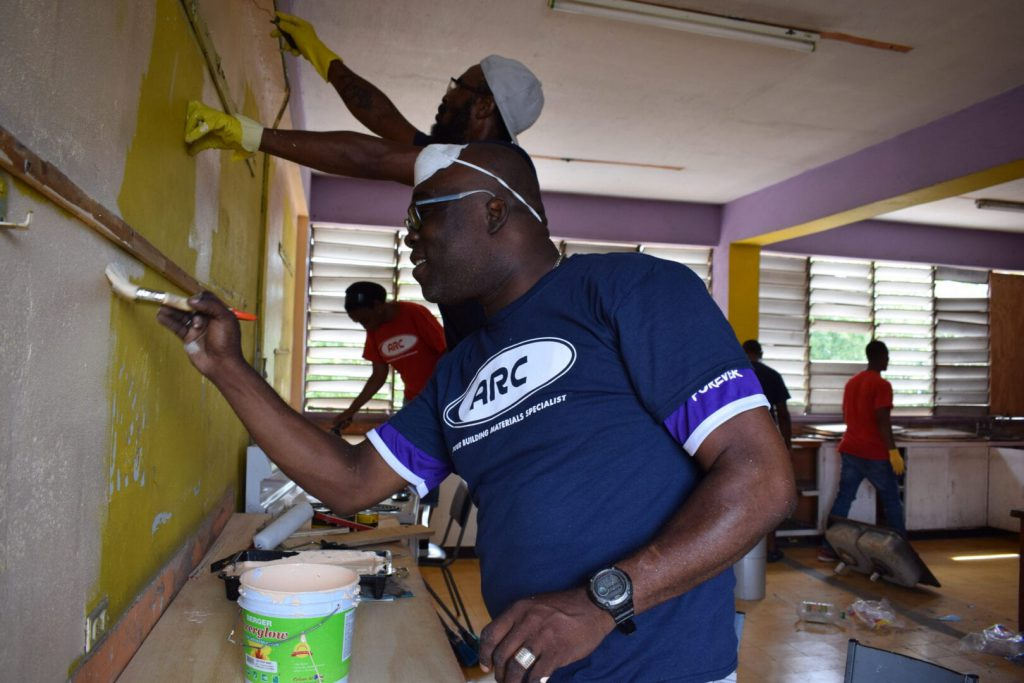 Community Members Team up to Give Haile Selassie High School A Facelift