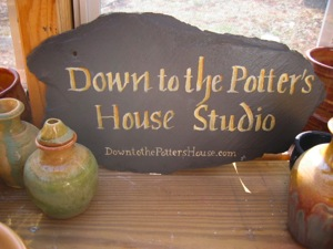 Down to the Potter's House Studio Sign