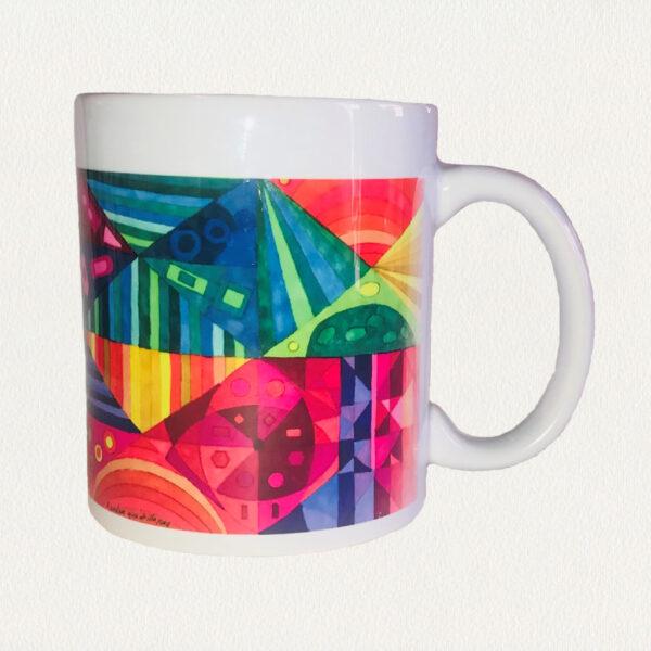 'Random Quadrille' Beverage Mug
