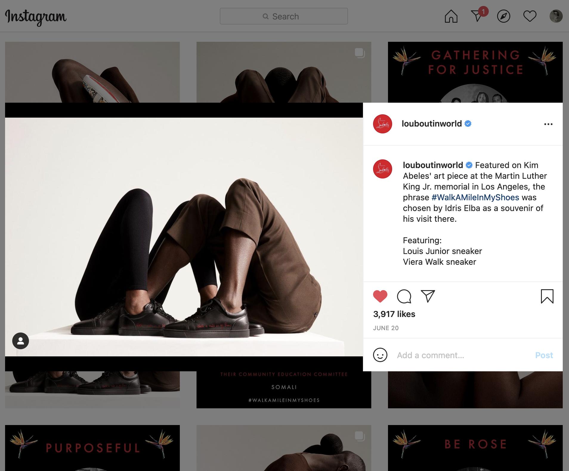 Louboutin instagram 2021