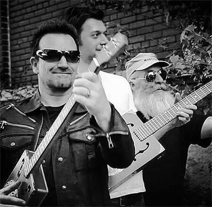 Bono and Lenny of Daddy Mojo Guitars