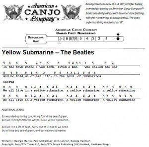 Canjo Tablature