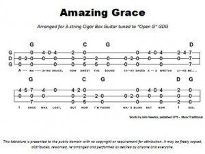 Amazing Grace with Chords Tablature PDF