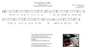 Red River Valley - MELODY ONLY Version. Click the image above to view the printable sheet.