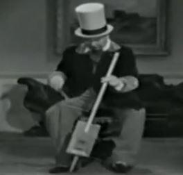W. C. Fields and his one-string Cigar Box Violin