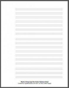 Blank 3-string Tab Sheet