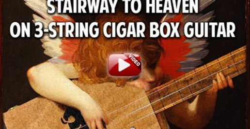 Stairway to Heaven by Led Zeppelin on the Cigar Box Guitar