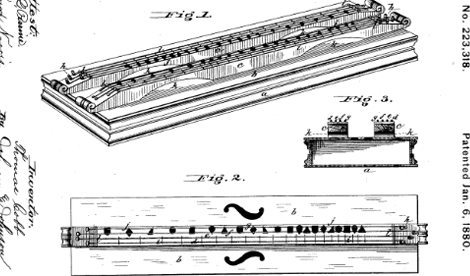 Dulcimer patent from 1880