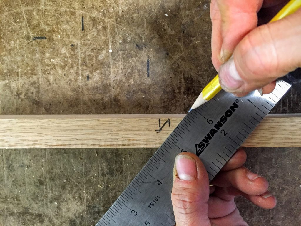 4 Measure bottom edge of straight headstock