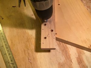 drill tuning peg mounting screw holes
